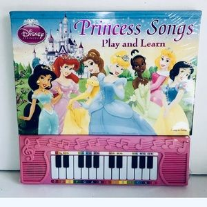 Disney Princess Songs Learn And Play Book Musik